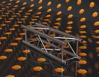 1M Square Truss 3D Model