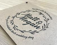 Wedding Logo and Invite