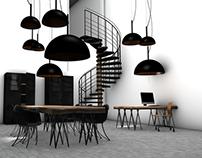 Industrial creative room