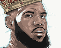King LeBron: ESPN Animated Time Lapse Illustration