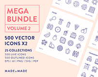 Line Icons – Mega Bundle Volume 2