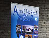 Adrian Public Schools Banner Stand