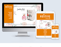 Web-design for company Positive Parfum Product