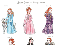 Sansa's dresses