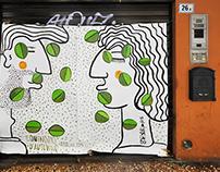 """Equinozio d'autunno"" \ live painting \ BOLOGNA \ 2015"