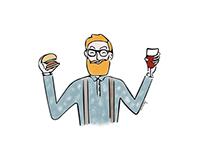 Illustration done for a food lover & hipster
