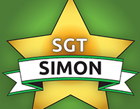 Sergeant Simon mobile application logo home screens