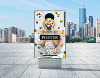 Outdoor Advertisement Poster Mockup Free