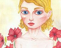 blonde vig blue eyes