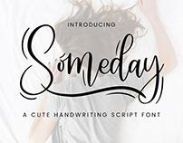Someday - Handwriting Script Font