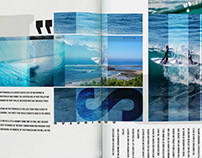 Surf article for Handmade art book