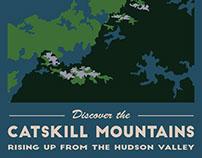Catskills Travel Poster