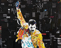 Freddie Mercury - Queen / Fashion magazines collage