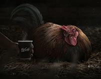 McCafé - Rooster. Retouching