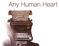 Mock-up book cover for Any Human Heart by William Boyd
