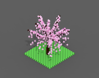 Voxel Cherry Tree