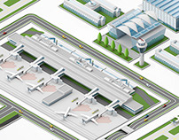 Munich Airport Miniature