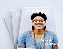 ALIVE Magazine Redesign: The Good Vibes Issue