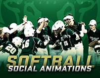 Colorado State Softball 2017 Social Animations