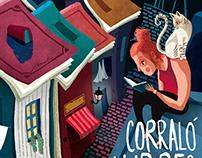 """""""Corraló del llibres oblidats 2015"""" poster and flyer"""