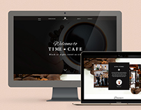 Time cafe webdesign - Branding