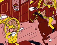 Illustration for Pop Corn : western genre