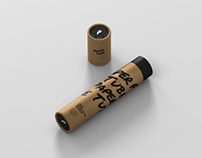 Paper Tube Mockup - Slim Long Size
