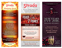 Strada/Social Lounge - Holiday Rack Cards 2015
