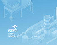 Orlen, motion graphics presentation