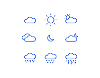 Minimal Weather Icons 🌥