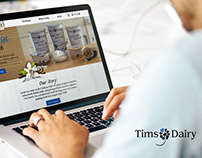 Tims Dairy Website Redesign