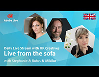 Adobe Live from the sofa UK with Mikiko