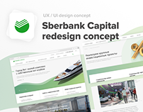 Sberbank Capital redesign concept