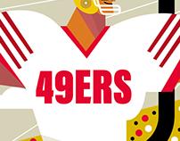 Super Bowl LIV - 49ers/ Chiefs illustration