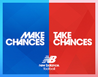 New Balance Football : Make/Take Chances : Key Art