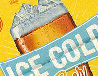 Cold Beer Happy Hour Poster