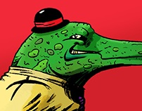 Bad Crooc. Illustration.