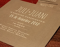 Julia & Juani · Wedding invitations