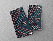 Colorful Lines Trifold