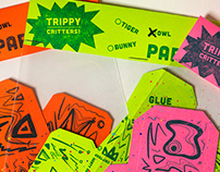 Trippy Critters, Letterpress Paper Toys
