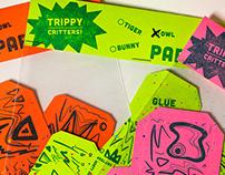 Trippy Critters, Letterpress Paper Toys