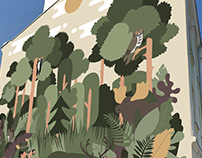 Leśny mural - Kalisz