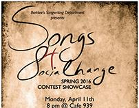 Songs for Social Change Showcase Poster