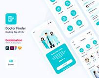 Doctor Finder Booking Mobile App UI Kits