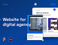 Digital agency website | ui/ux