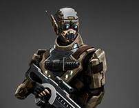 Near future soldier. Concept