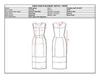 Tech Pack for dress