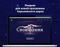 Landing page for circus