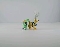 Plasticine modeling for Christmas