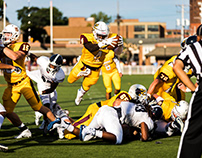 Gannon football August 31st, 2018